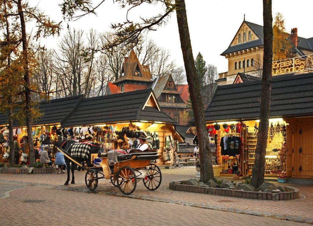 Krupowki street in Zakopane. Poland